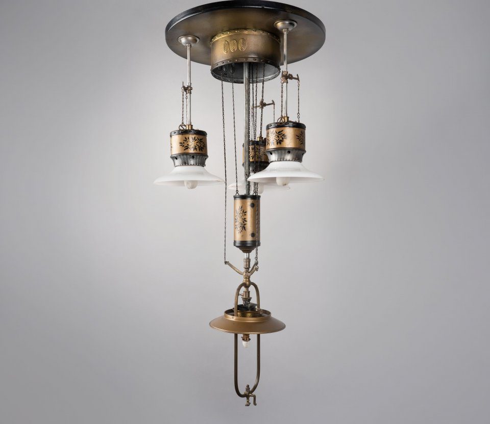 Telescopic pendant lamp – with several lampshades